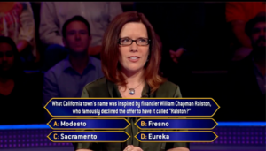 Susan on Who Wants to Be A Millionaire Guinness World Records Special Edition